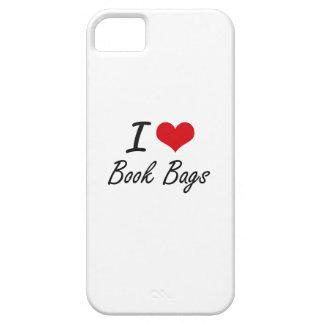 I Love Book Bags Artistic Design iPhone 5 Case