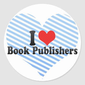 I Love Book Publishers Stickers