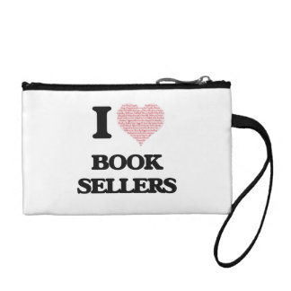 I love Book Sellers (Heart made from words) Coin Wallets