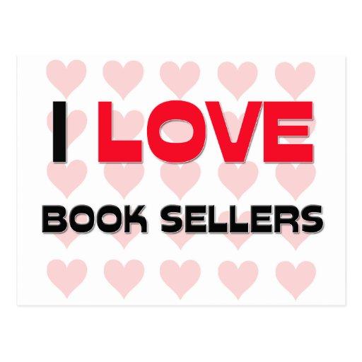 I LOVE BOOK SELLERS POSTCARD
