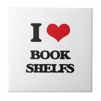I Love Book Shelfs Tiles