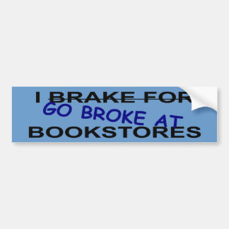 I Love Book Stores Bumper Sticker for Book Worms Car Bumper Sticker