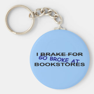 I Love Book Stores Keychain for Nerds