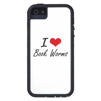 I Love Book Worms Artistic Design iPhone 5 Covers