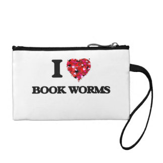 I Love Book Worms Change Purse
