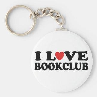 I Love Bookclub Basic Round Button Keychain