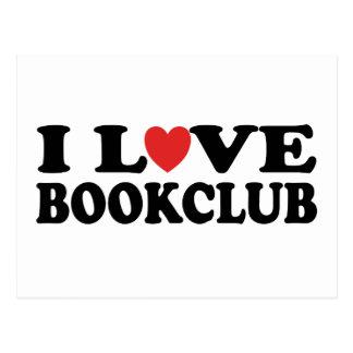 I Love Bookclub Postcard
