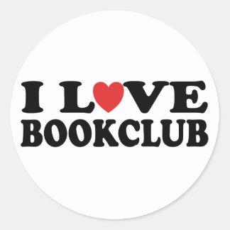 I Love Bookclub Classic Round Sticker