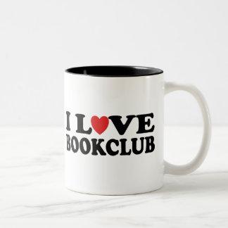 I Love Bookclub Two-Tone Coffee Mug