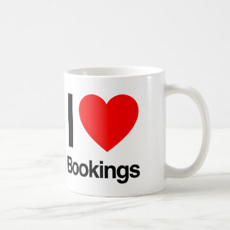 i love bookings coffee mug