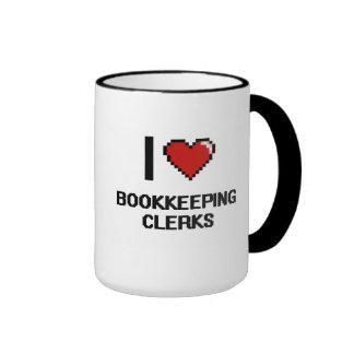 I love Bookkeeping Clerks Ringer Mug