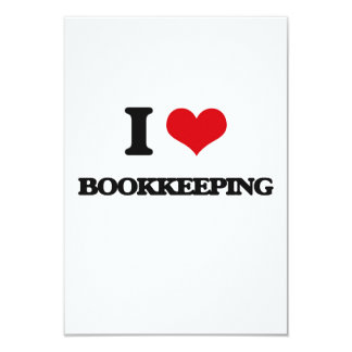 "I Love Bookkeeping 3.5"" X 5"" Invitation Card"