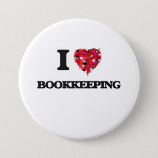 I Love Bookkeeping Pinback Button