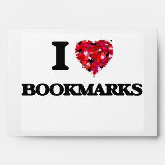 I Love Bookmarks Envelope
