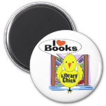 I Love Books 2 Inch Round Magnet