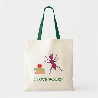 I Love Books Budget Tote Bag