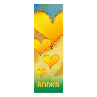 I Love Books! bookmark for every books lovers! Business Card Template