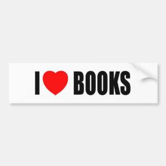 I Love Books Car Bumper Sticker