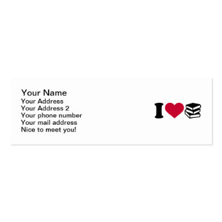 I love books Double-Sided mini business cards (Pack of 20)
