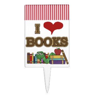 I Love Books Cake Topper