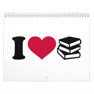 I love books calendar