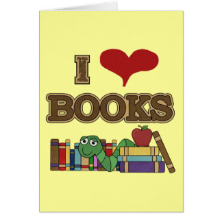 I Love Books Greeting Cards