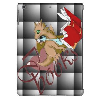 I Love Books Dragon iPad Air Cover 2 Black Quilt