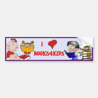 I Love Books For Kids Car Bumper Sticker