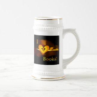 I Love Books - I 'Heart' Books (Candlelight) Beer Stein