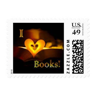 I Love Books - I 'Heart' Books (Candlelight) Stamp