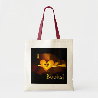 I Love Books - I 'Heart' Books (Candlelight) Tote Bag