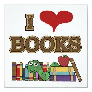 I Love Books Custom Invites