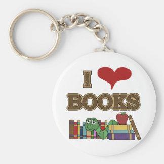 I Love Books Key Chain
