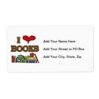 I Love Books Shipping Labels