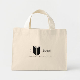 I Love Books Mini Tote Bag