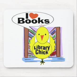 I Love Books Mouse Pads