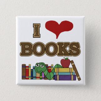 I Love Books Pinback Button