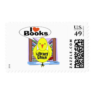 I Love Books Postage