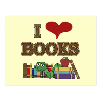 I Love Books Postcard