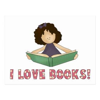 I Love Books! Postcard