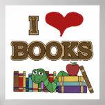 I Love Books Poster