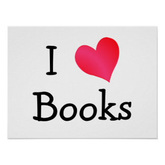 I Love Books Posters