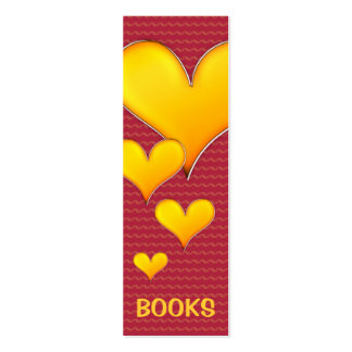 I Love Books! Red bookmark for every books lovers! Mini Business Card