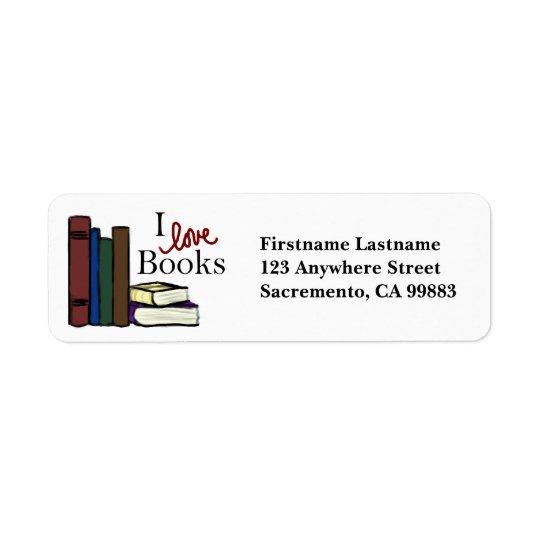 I Love Books Return Address Labels