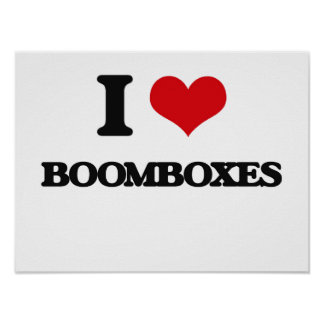 I Love Boomboxes Poster