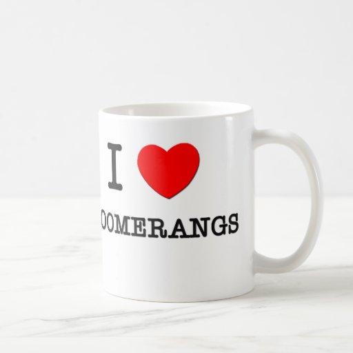 I Love Boomerangs Classic White Coffee Mug