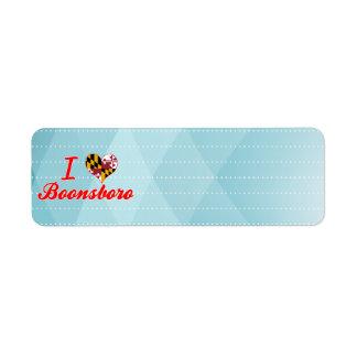 I Love Boonsboro Maryland Return Address Label