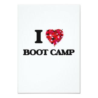I Love Boot Camp 3.5x5 Paper Invitation Card