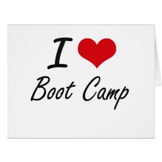 I Love Boot Camp Artistic Design Large Greeting Card