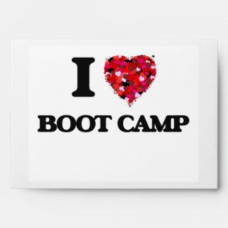 I Love Boot Camp Envelopes